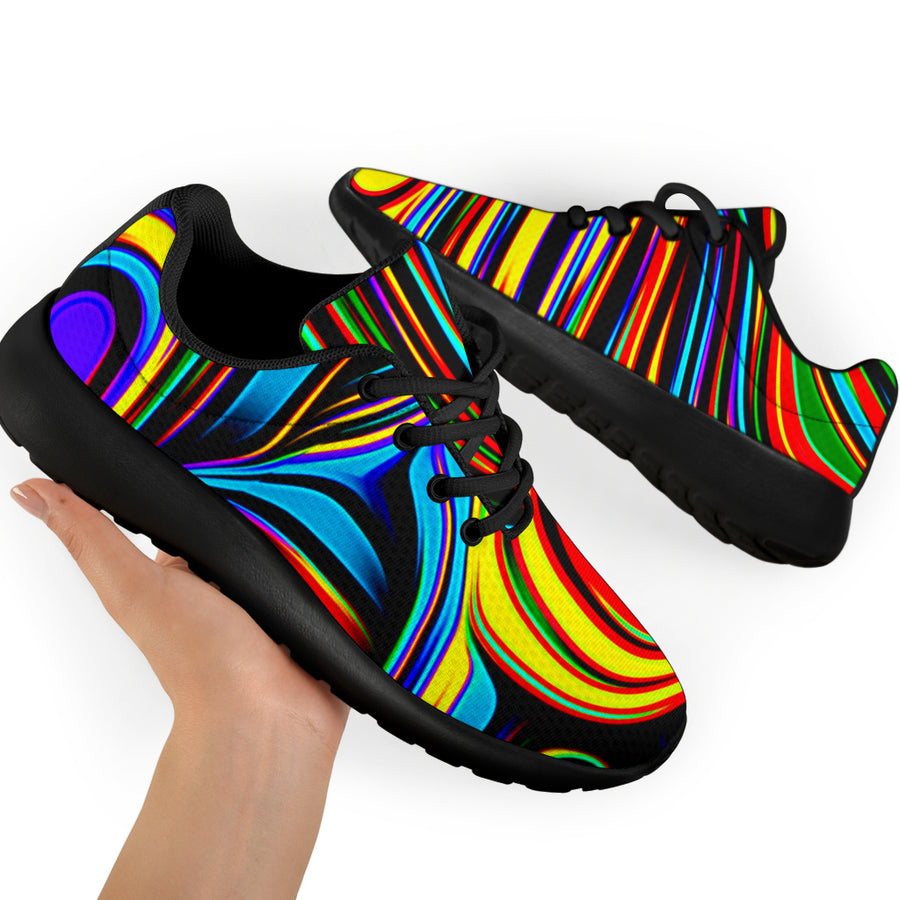 Abstract Wavy Running Shoes