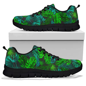 Palm Leaf Tropical Print Sneakers