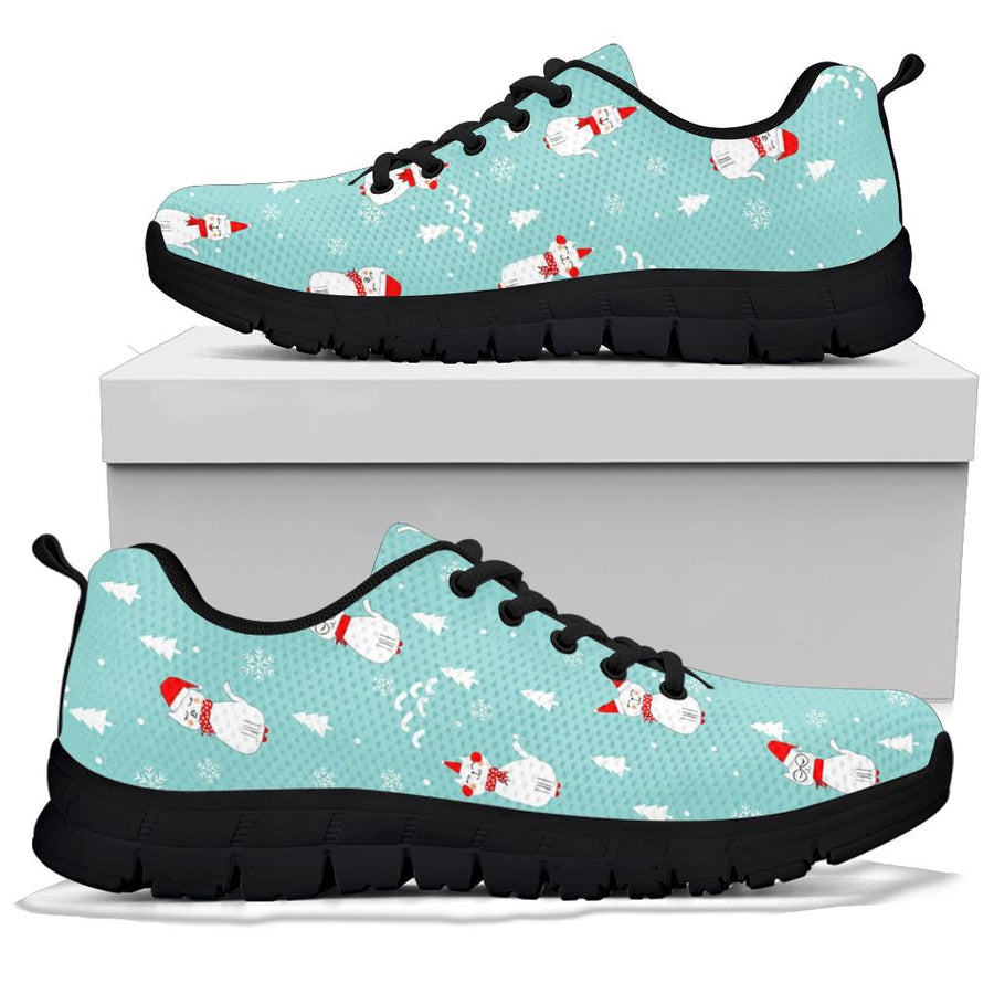 Christmas Cat Print Sneakers