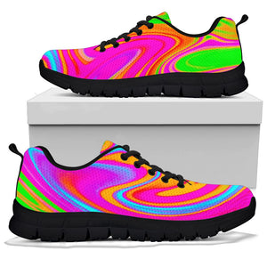 Colorful Abstract Paint Sneakers