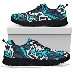Graffiti Geometric Print Sneakers