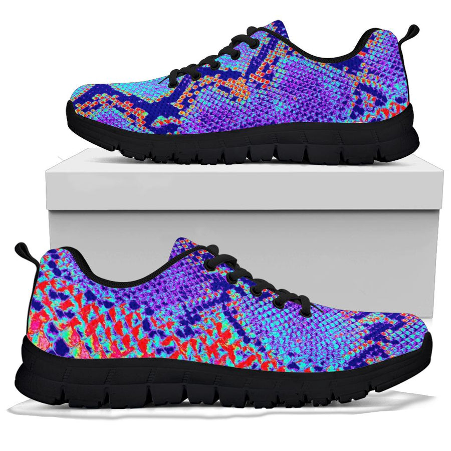 Colorful Snakeskin Print Sneakers