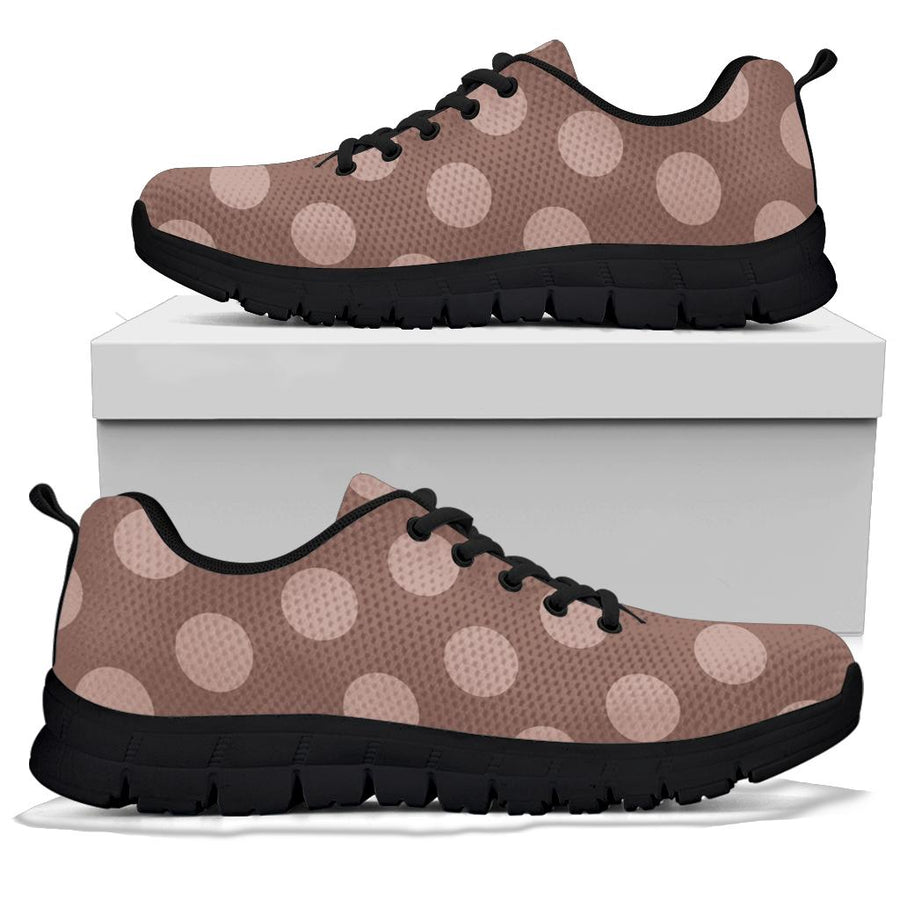 Brown And Tan Polka Dot Sneakers