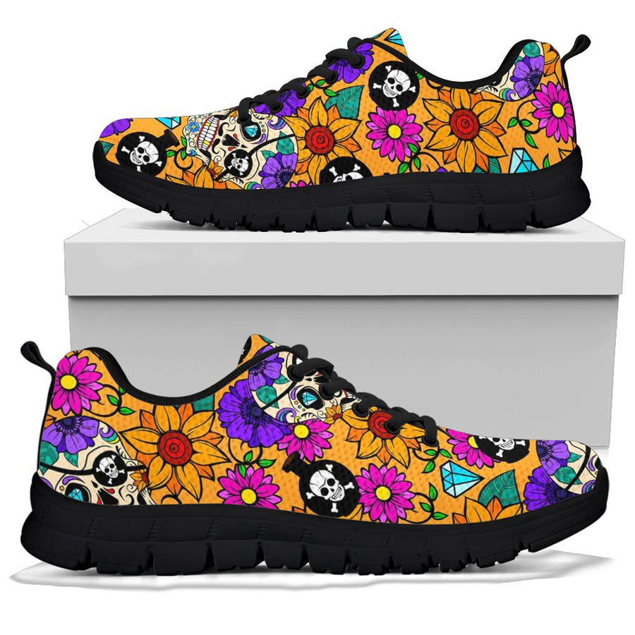 Sugar Skull Flower Sneakers