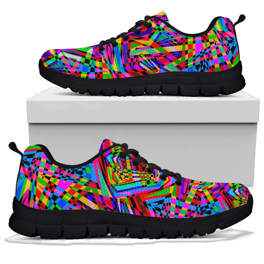 Psychedelic Geometric Multicolor Sneakers