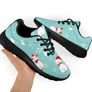 Christmas Cat Print Running Shoes