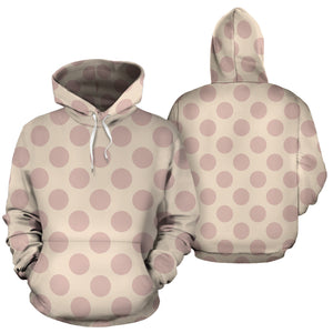 Brown And Cream Polka Dot Hoodie