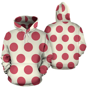 White And Red Polka Dot Hoodie
