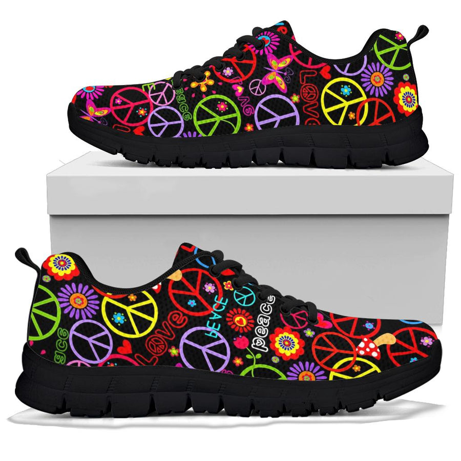 Hippie Peace Sign Sneakers