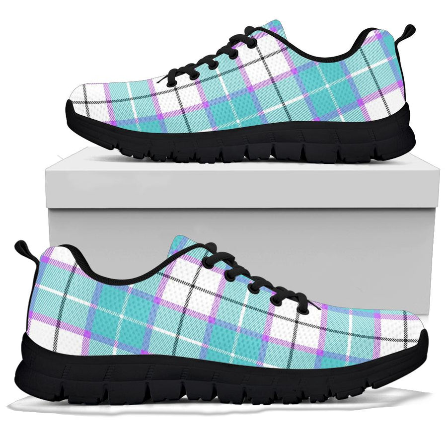 Blue Tartan Plaid Sneakers