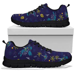 Island Palm Tree Hawaiian Print Sneakers
