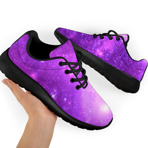 Abstract Purple Galaxy Space Running Shoes