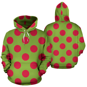 Green And Red Polka Dot Hoodie