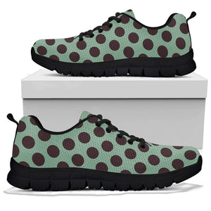 Green And Black Polka Dot Sneakers
