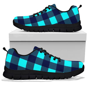 Blue Plaid Print Sneakers
