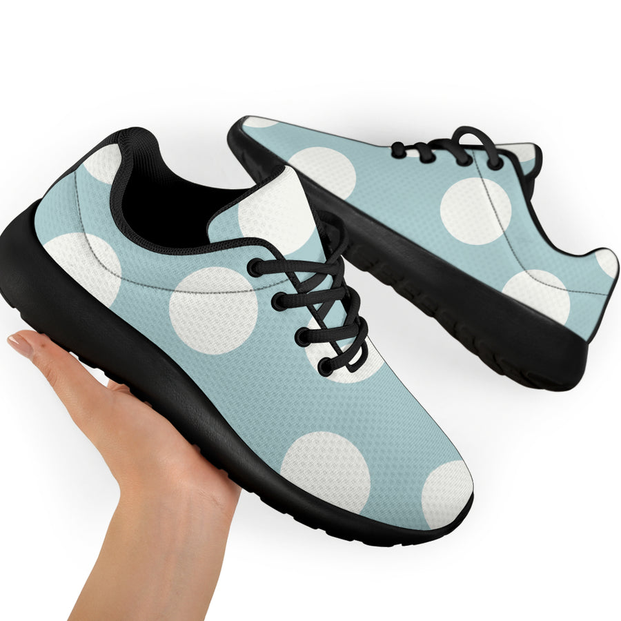 Aqua Polka Dot Running Shoes