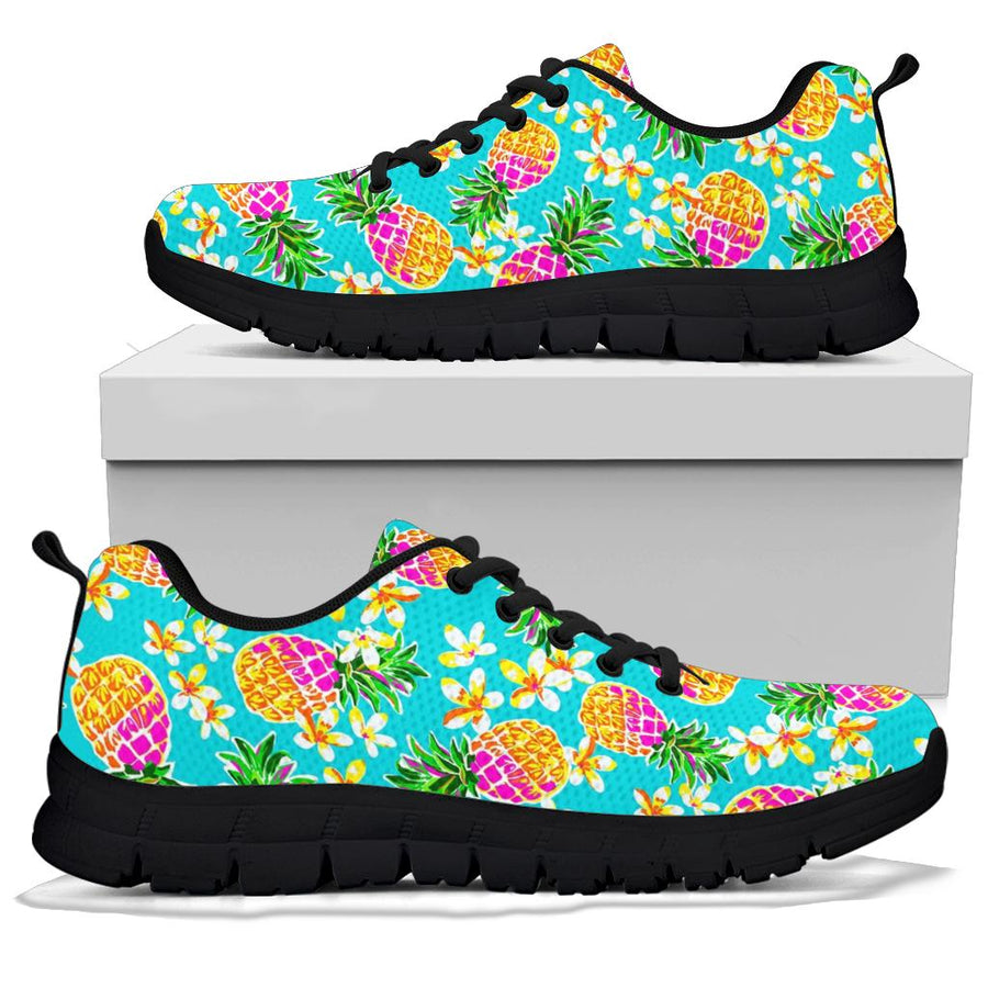 Hawaiian Pineapple Print Sneakers