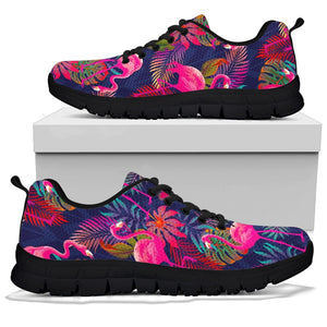 Tropical Flamingo Hawaiian Print Sneakers