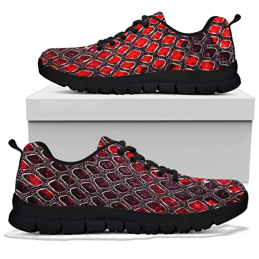 Red Snakeskin prin Sneakers
