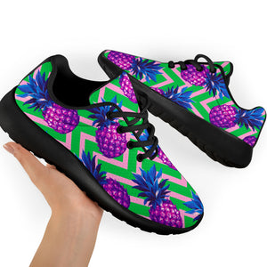 Abstract Hawaiian Pineapple Print Running Shoes