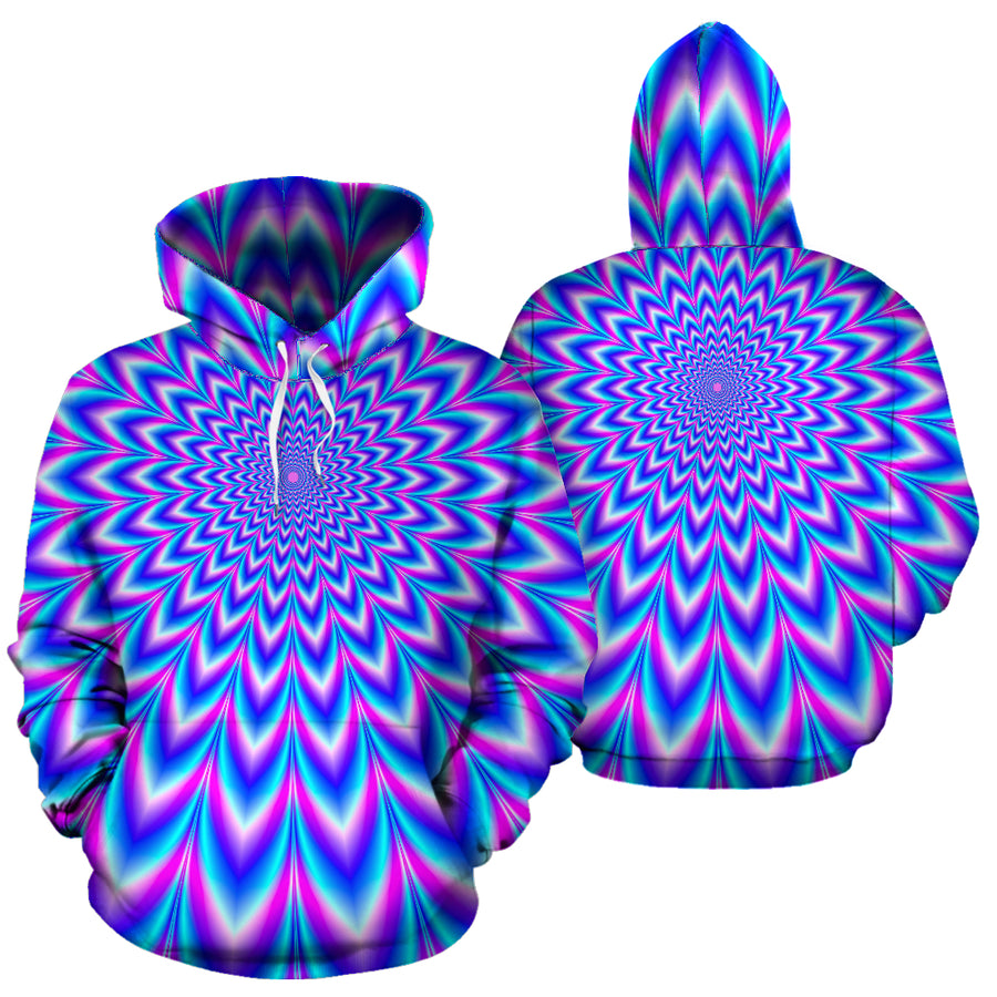 Blue Optical illusion Hoodie