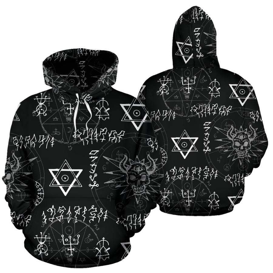 Witch Sign Print Hoodie