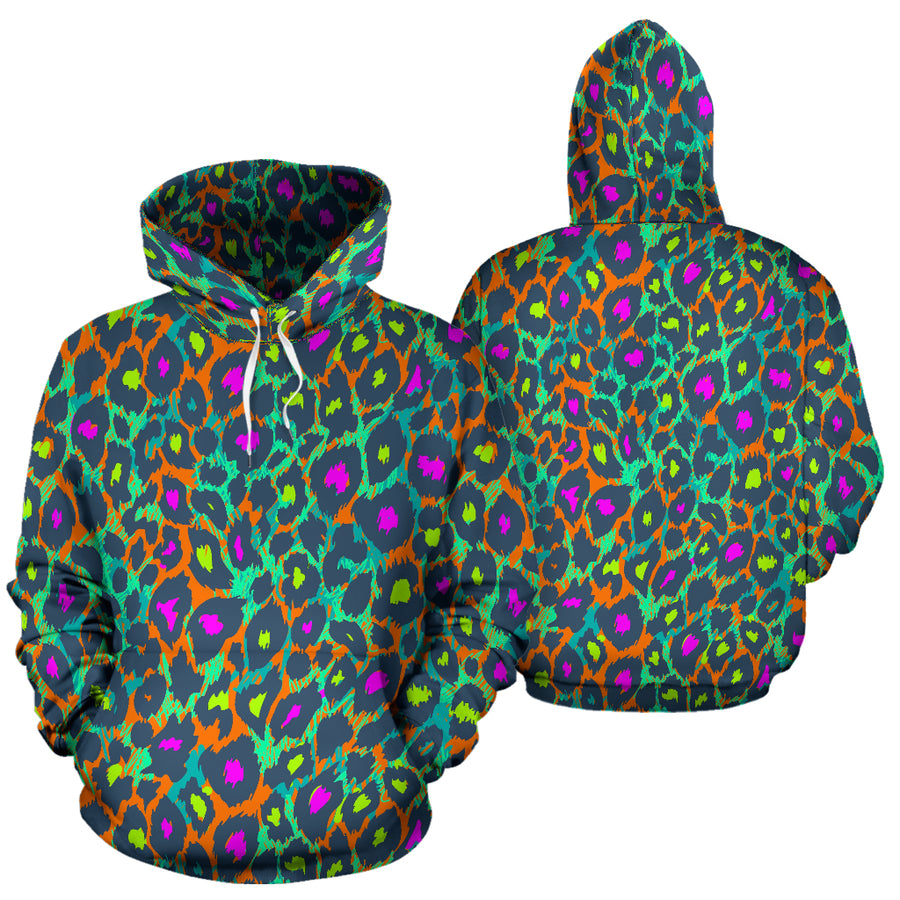 Colorful Neon Leopard Hoodie