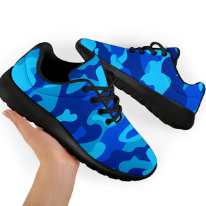 Blue Camo Print Running Shoes