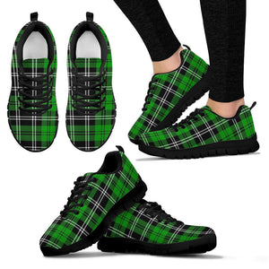 Green Plaid Tartn Print Sneakers