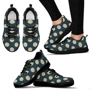 Vintage Black Polka Dot Sneakers