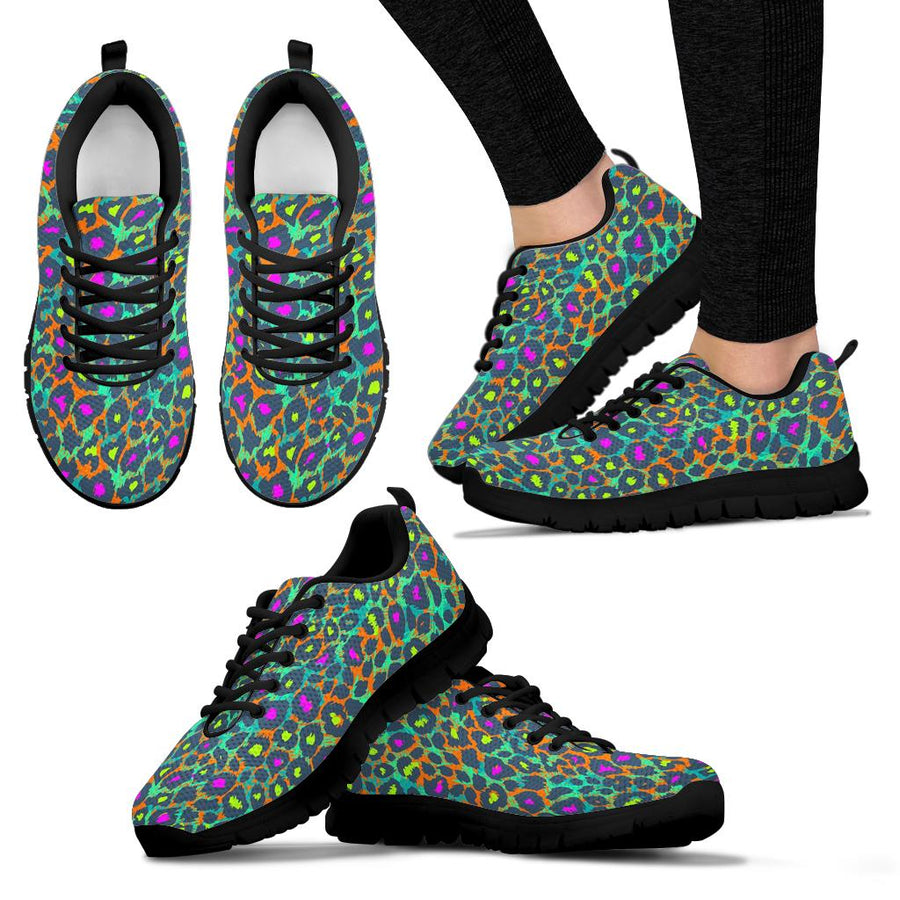 Colorful Neon Leopard Sneakers