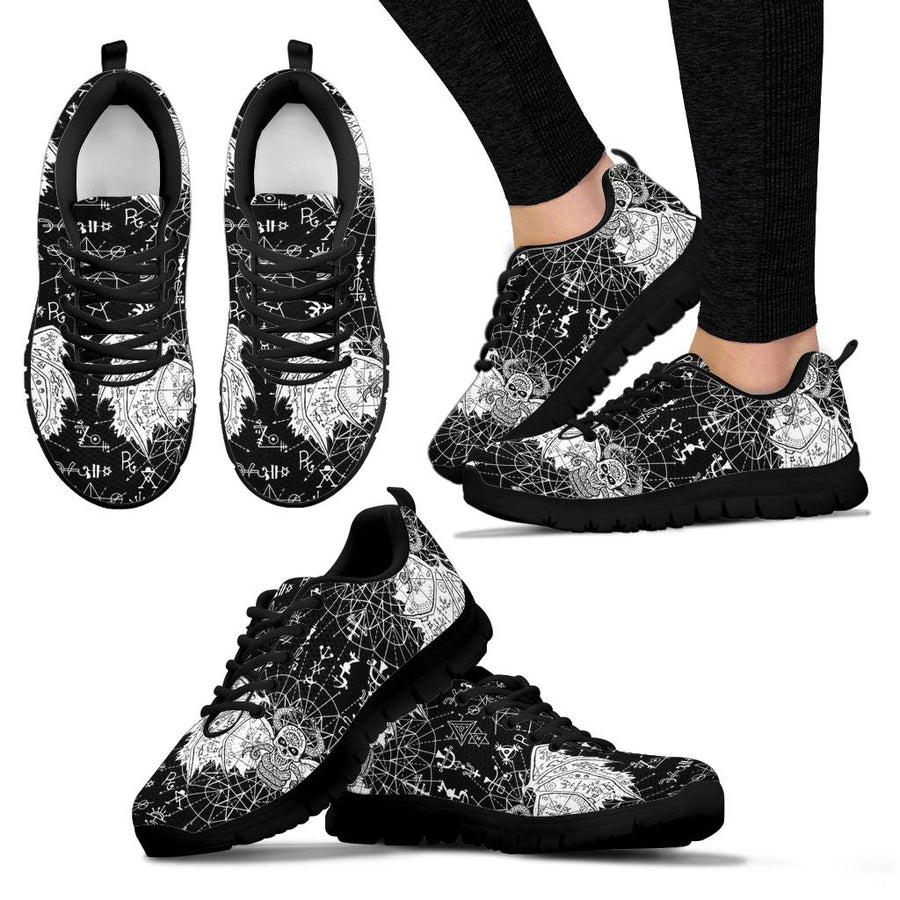 Satanic Demon Gothic Witch Sneakers