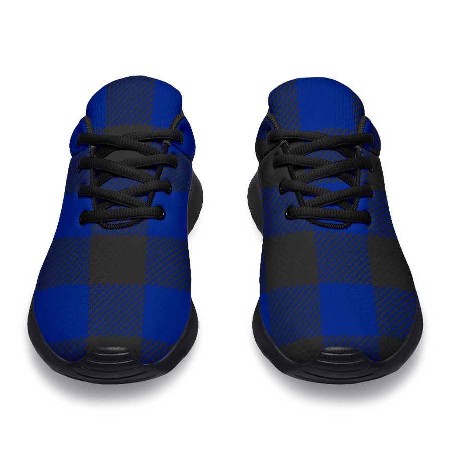 Blue Buffalo Plaid Running Shoes