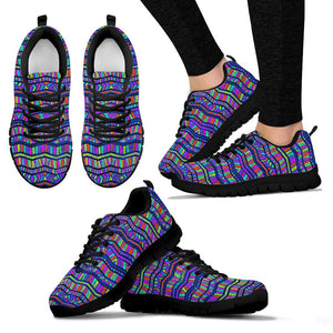 Multicolor Indian Aztec Doodle Elements Abstract Sneakers