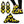 Load image into Gallery viewer, Yellow Checkered Print Sneakers