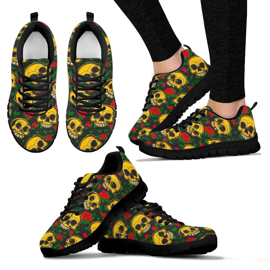 Mexican Rose Skull Sneakers