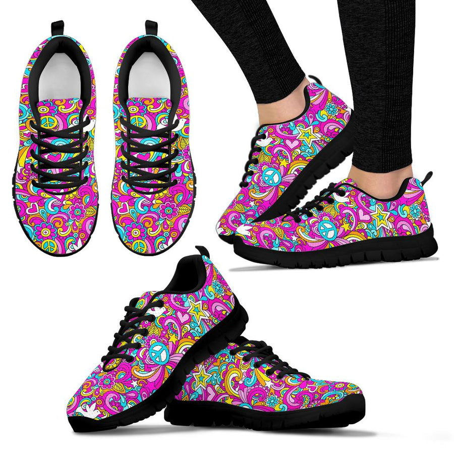 Abstract Hippie Sneakers