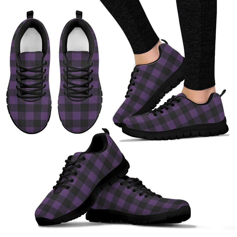 Purple Buffalo Plaid Sneakers