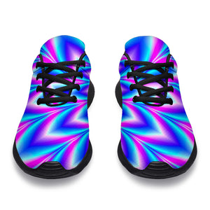 Blue Optical illusion Running Shoes