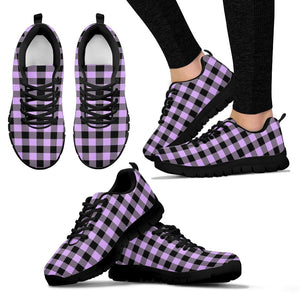 Purple Violet Plaid Sneakers