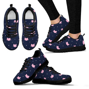 Cute Cat Polka Dot Print Sneakers