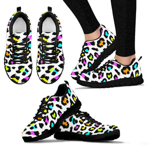 White Leopard Sneakers