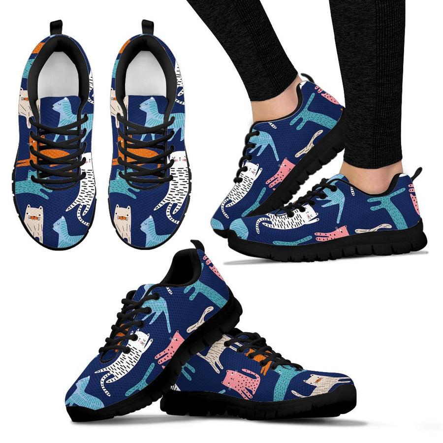 Cute Cat Style Print Sneakers