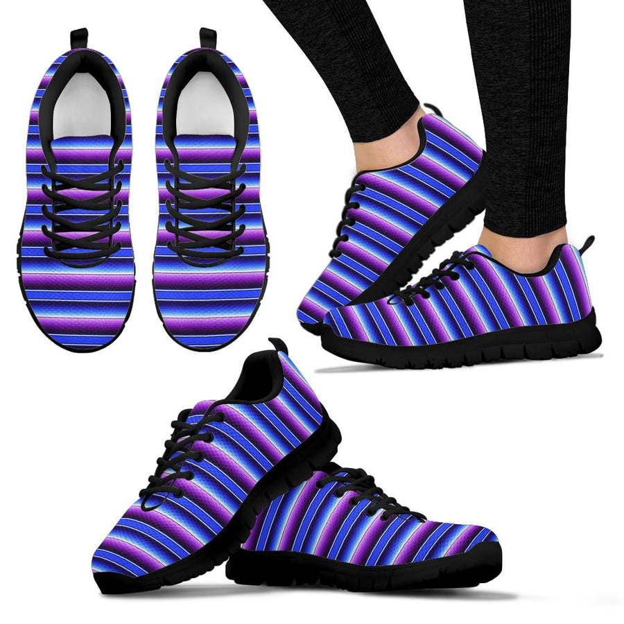 Blue And Purple Mexican Baja Sneakers