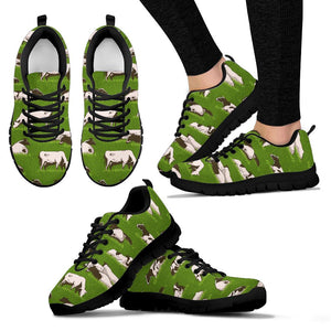 Cow In Grass Print Sneakers