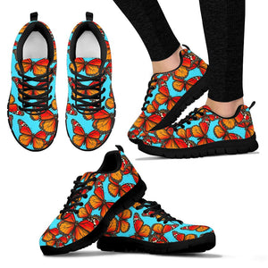 Monarch Butterfly Print Sneakers