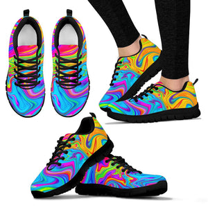 Abstract Mixing Ink Sneakers