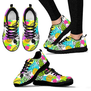 Colorful Mix Fruit Pineapple Hawaiian Print Sneakers