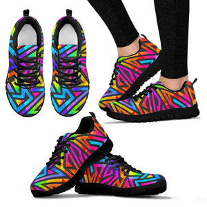 Rainbow Geometric Abstract Sneakers