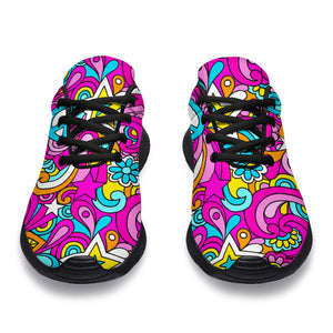 Abstract Hippie Running Shoes